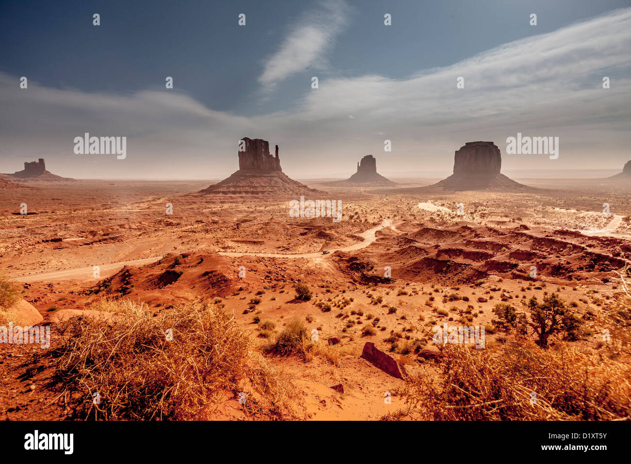Monument Valley in the Navajo Tribal Park - Stock Image