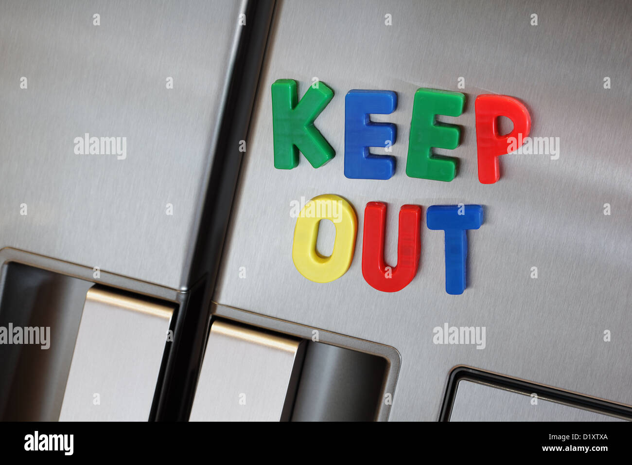 Keep out the refrigerator - Stock Image