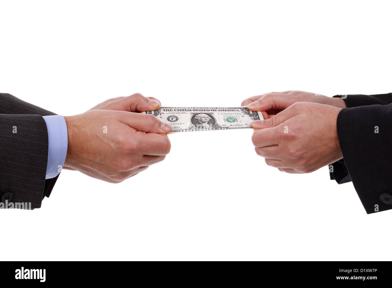 Arguing over money - Stock Image