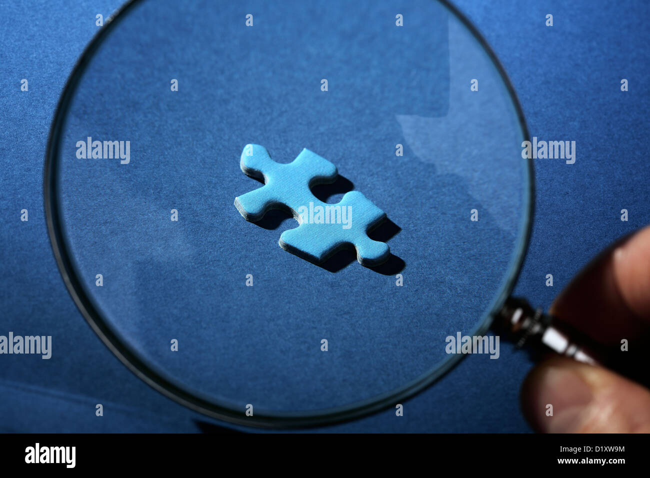 Missing piece of the puzzle - Stock Image