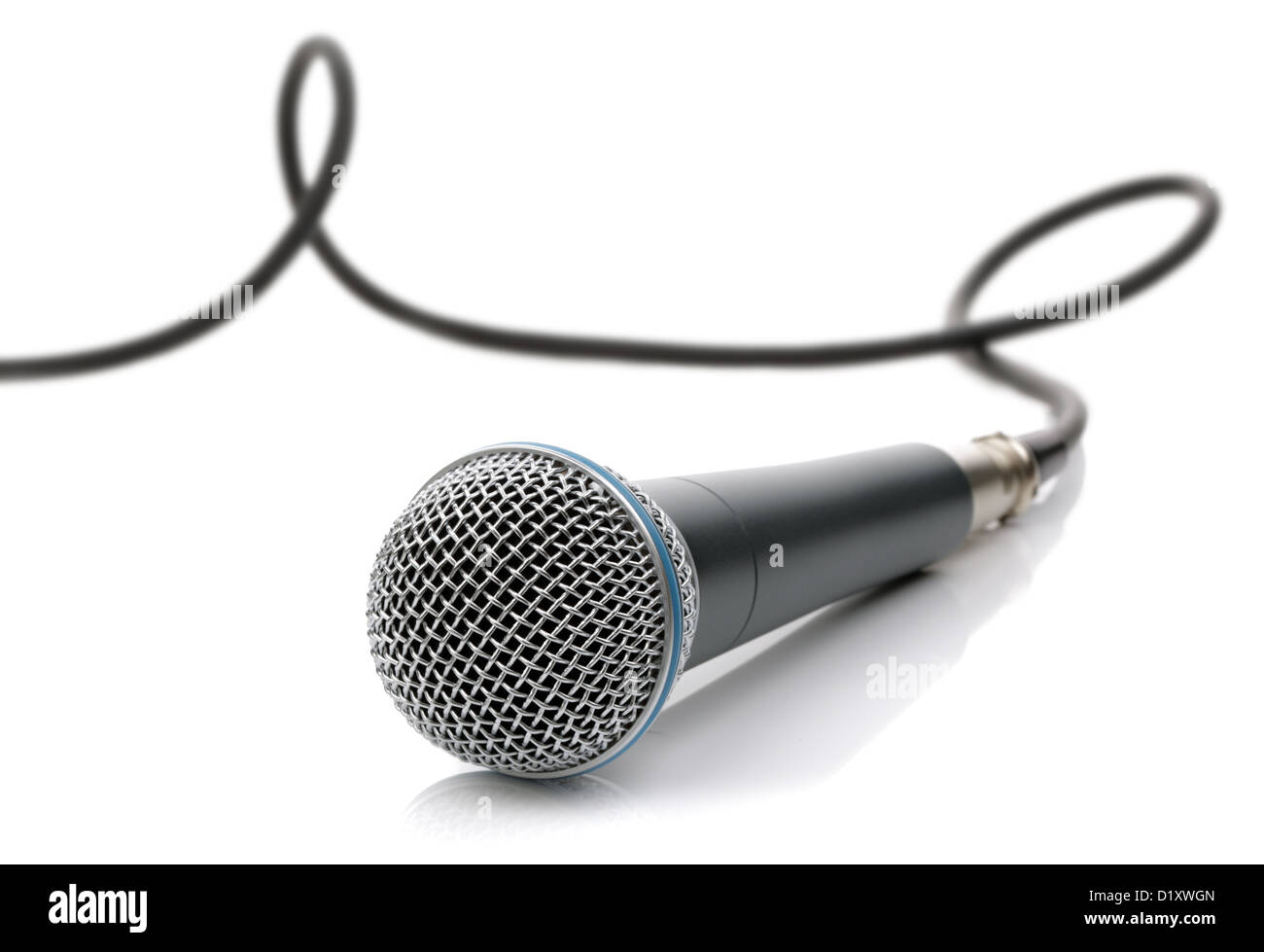 Microphone with cable - Stock Image