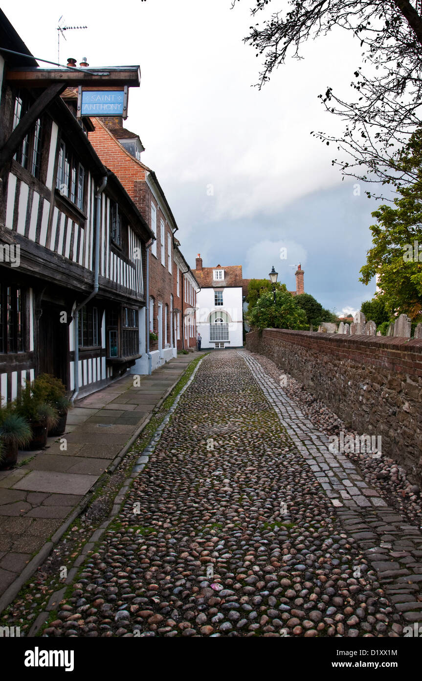 Cobbled Street - Stock Image