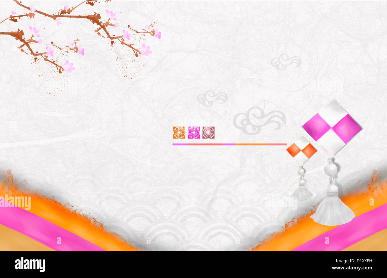 ppt template illustration of korean traditional design stock photo  52837305
