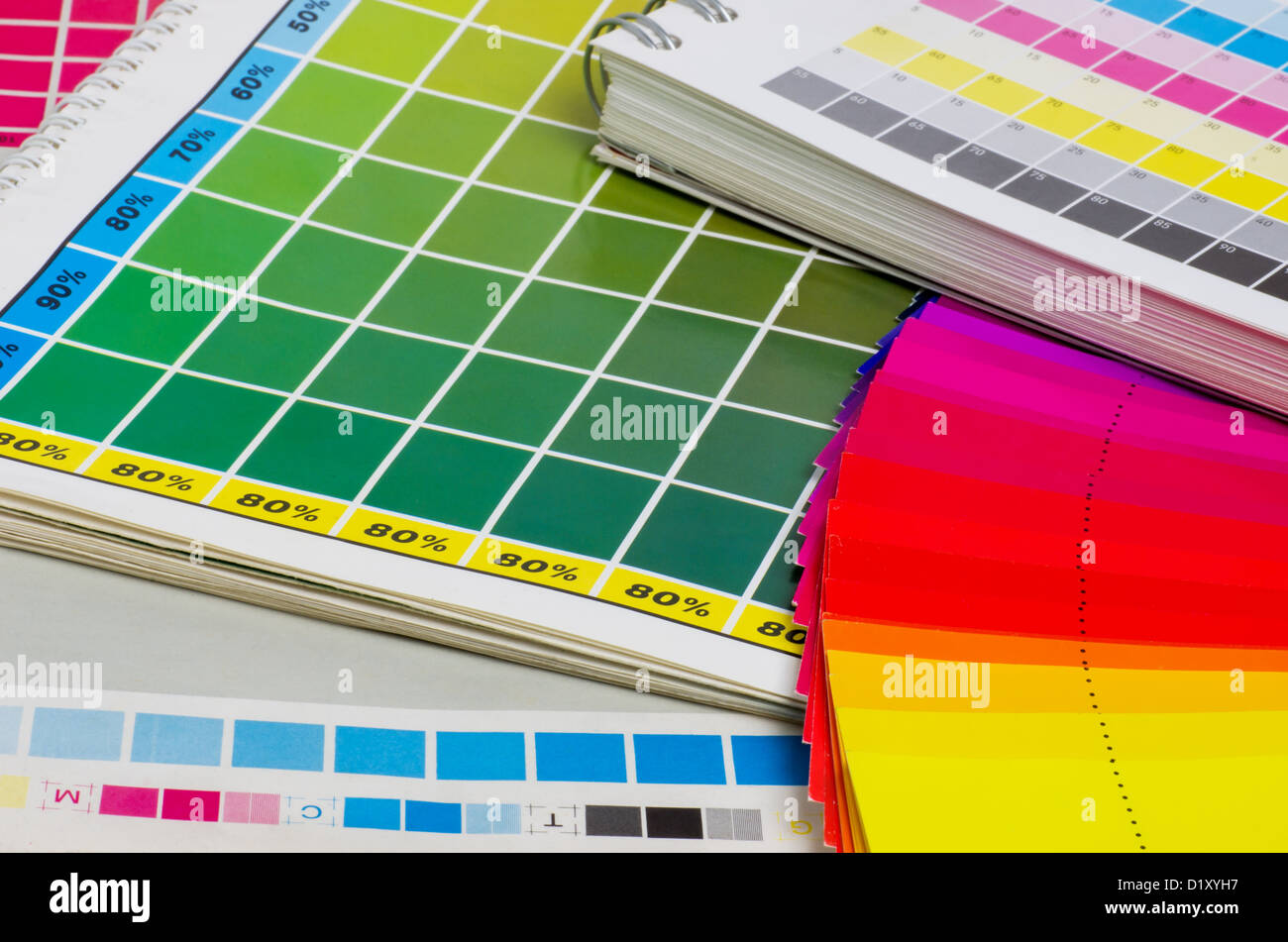 color guide and color fan - Stock Image