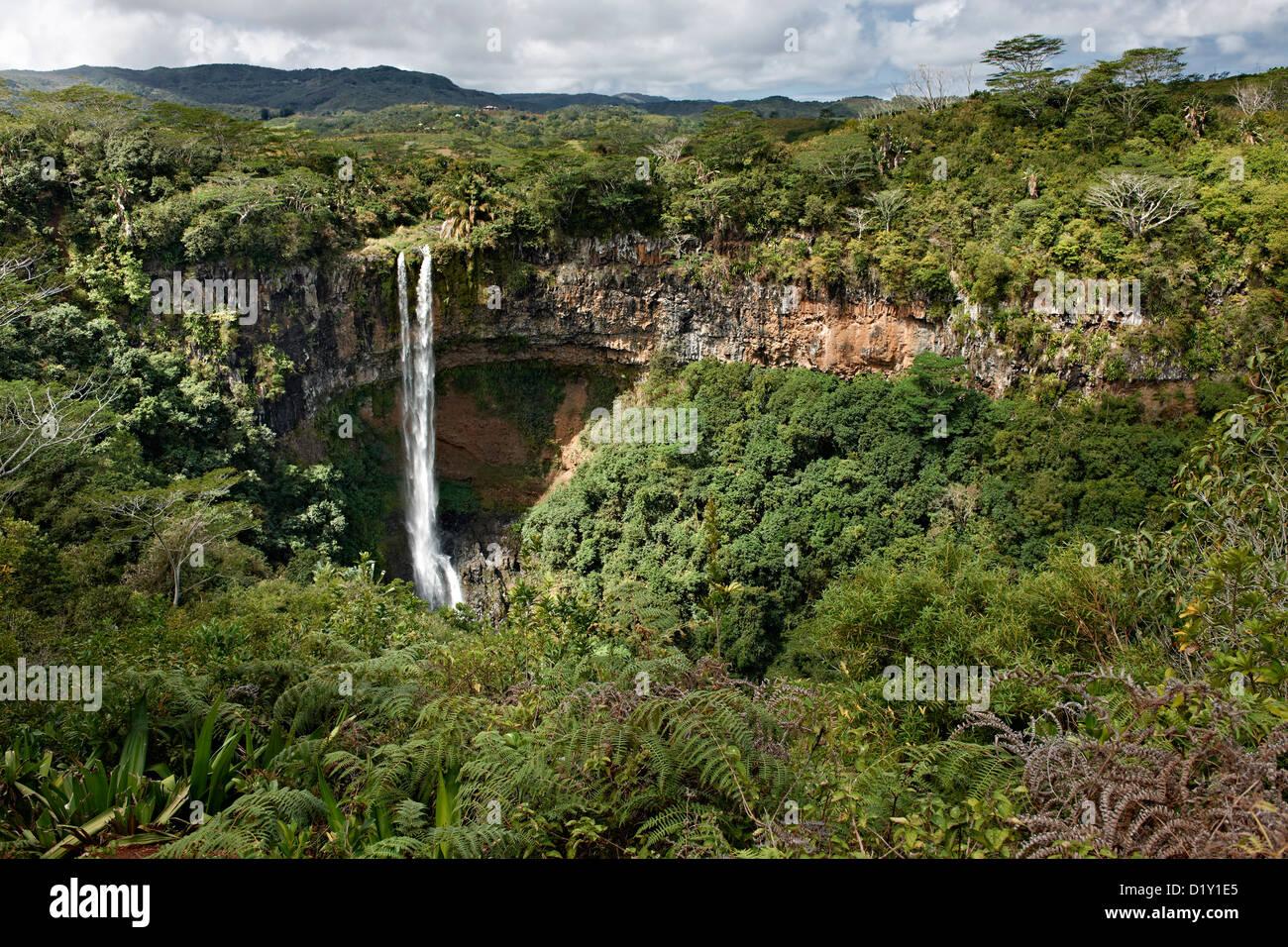 Chamarel Falls, Chamarel, Mauritius, Indian Ocean, Africa - Stock Image