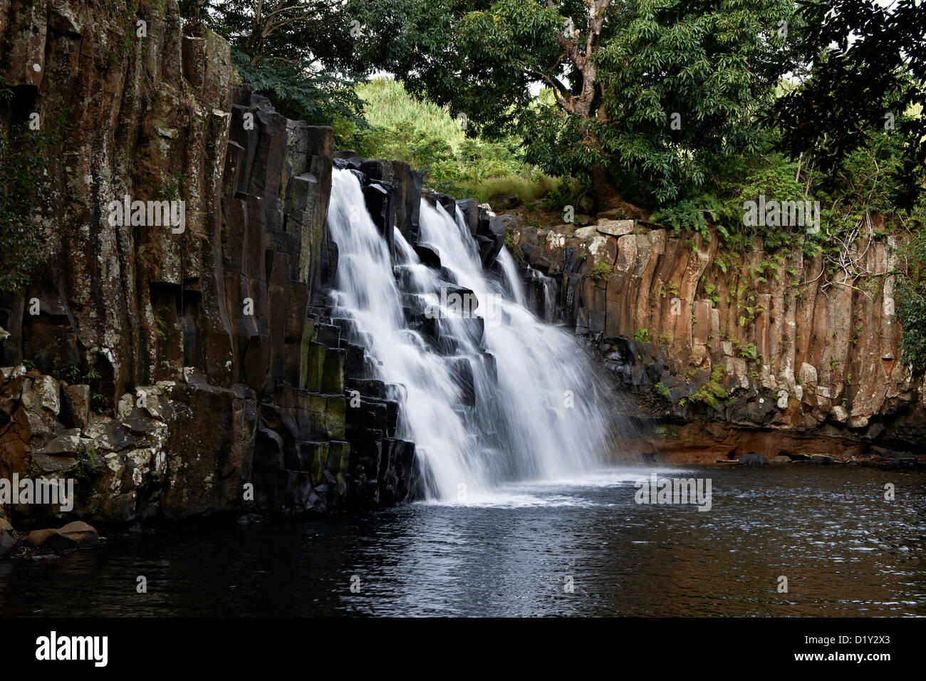 Rochester Falls, Soulliac, Mauritius, Indian Ocean, Africa - Stock Image