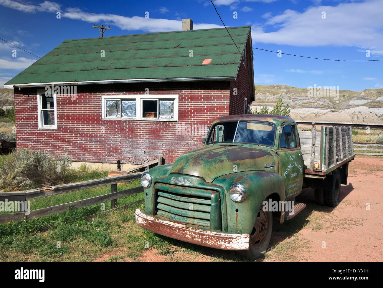 Old pickup truck, Atlas Coal Mine National Historic Site, East Coulee, Alberta, Canada - Stock Image