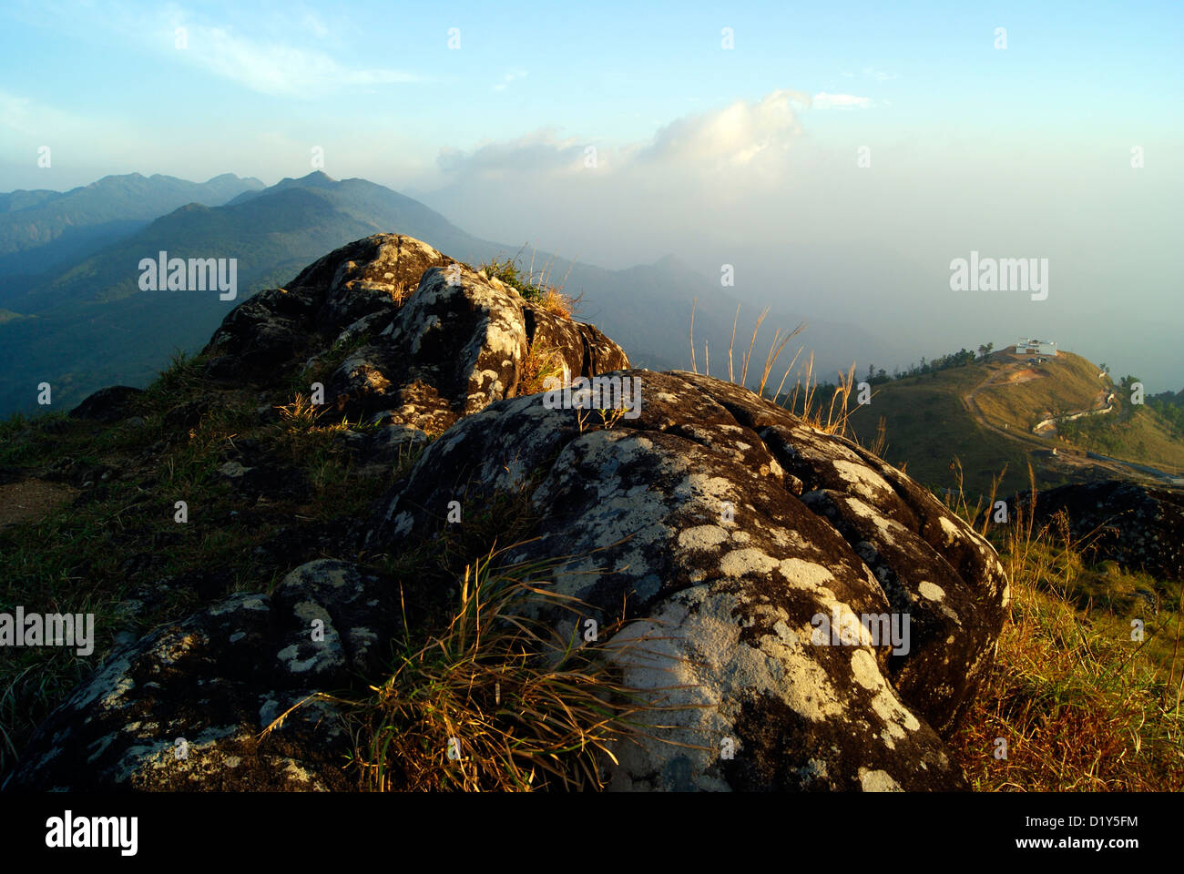 Ponmudi Hill Station and Rock View Landscapes in Kerala India Tourism Destination - Stock Image