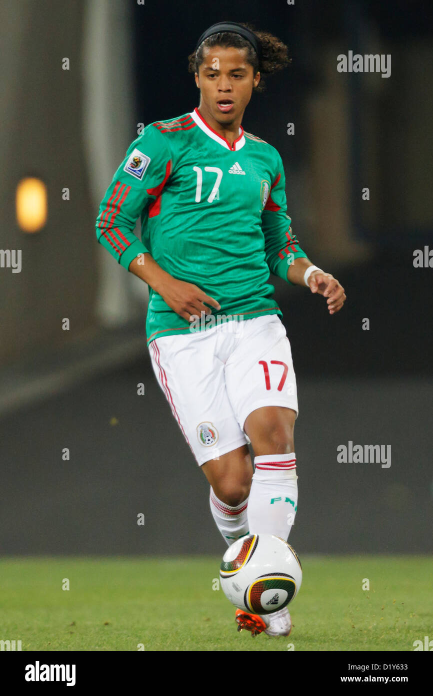 291a76f2622 Giovani Dos Santos of Mexico on the ball during the FIFA World Cup round of  16