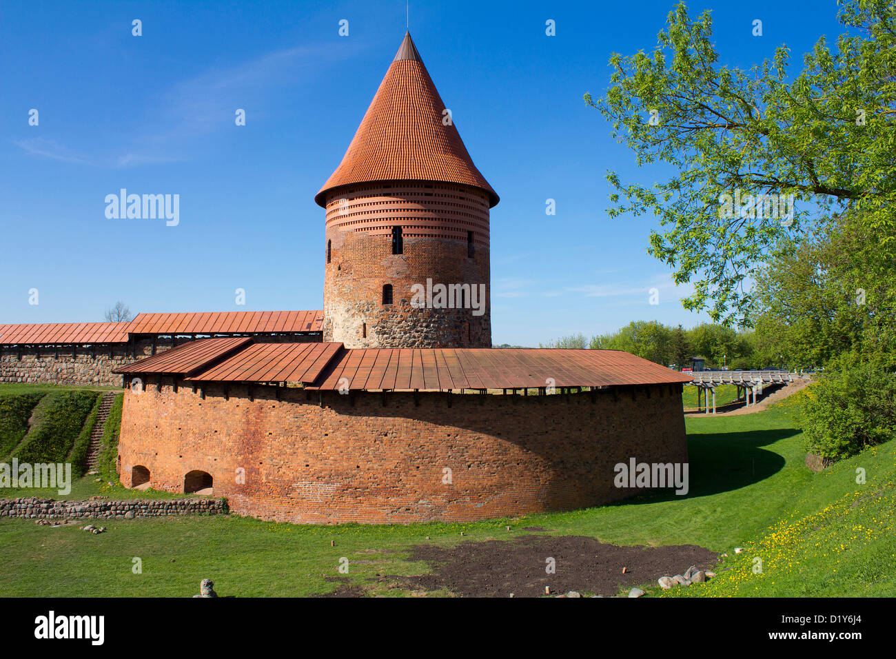Castle of Kaunas - Stock Image