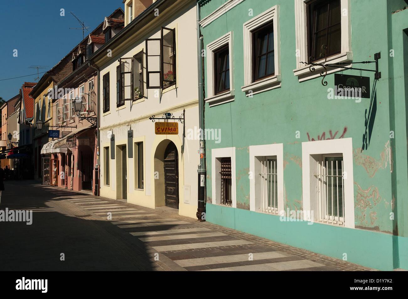 Elk192-1089 Croatia, Zagreb, Opatovina pedestrian street - Stock Image
