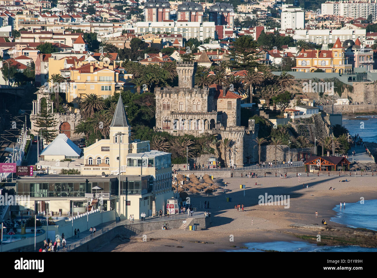 a view from the estoril eden hotel in monte estoril portugal stock photo 52845005 alamy. Black Bedroom Furniture Sets. Home Design Ideas
