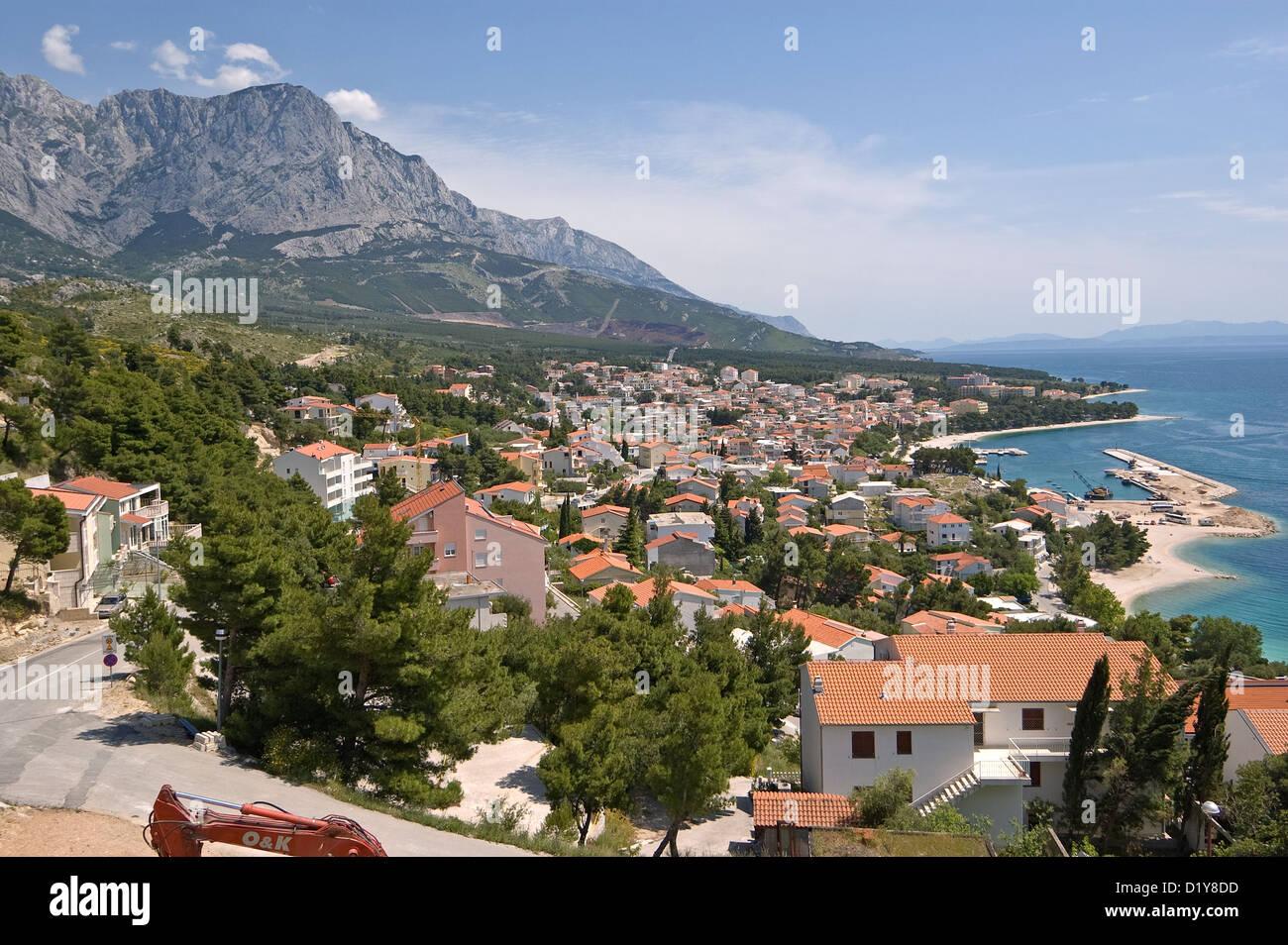 Elk192-3110 Croatia, South Dalmatian Coast, coastal towns - Stock Image