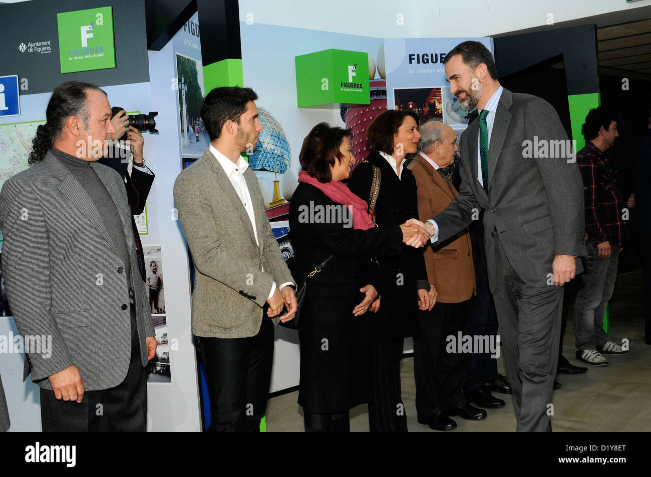 Prince Felipe guest of honor, for the inauguration of Barcelona-Figueres high-speed rail line (AVE) . Spain - Stock Image