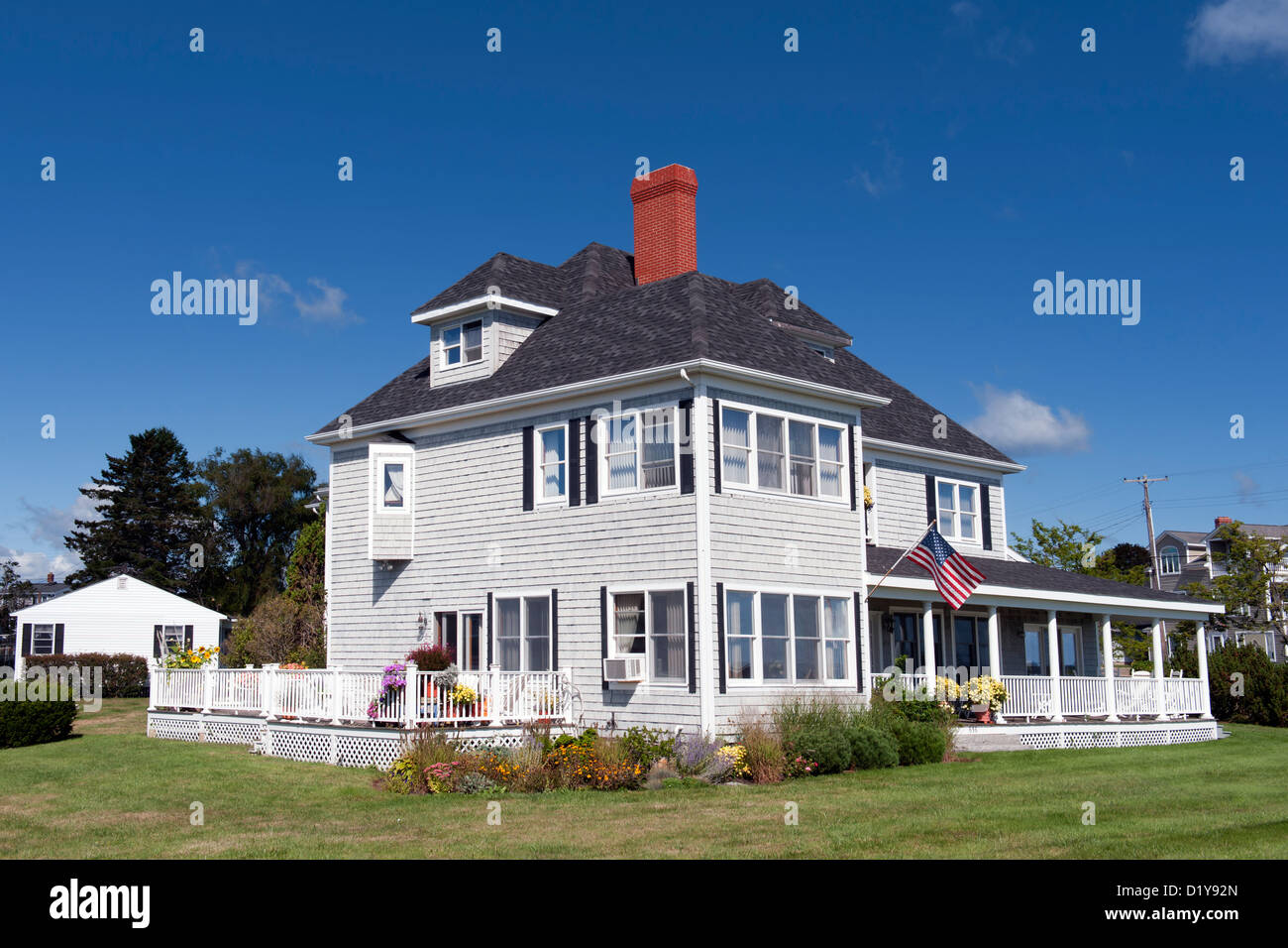 Typical New England Clapboard House In Moody Beach Maine