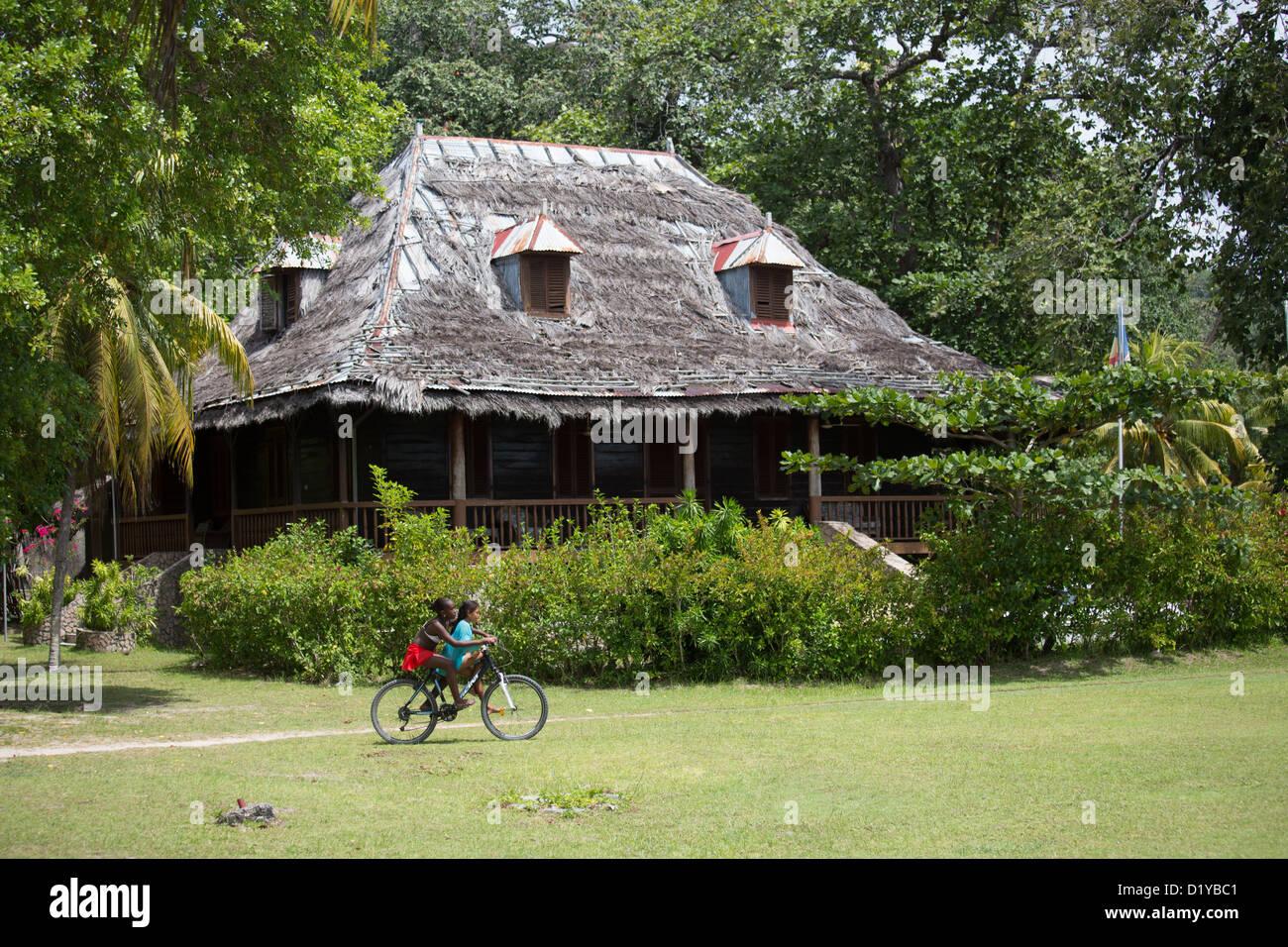 Plantation House, L' Union Estate, La Digue Island, Seychelles - Stock Image