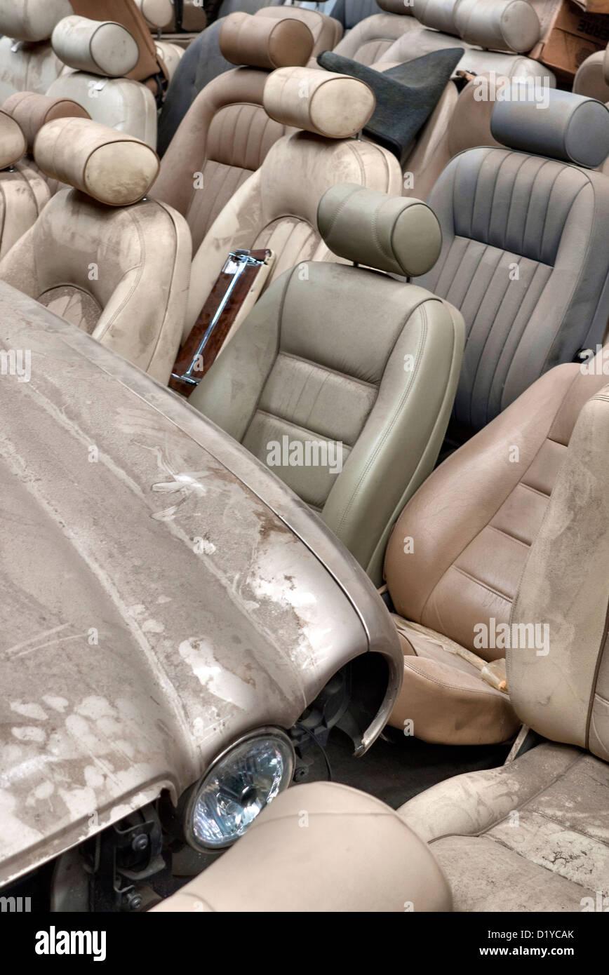 Jaguar  recycling and Junkyard - Stock Image