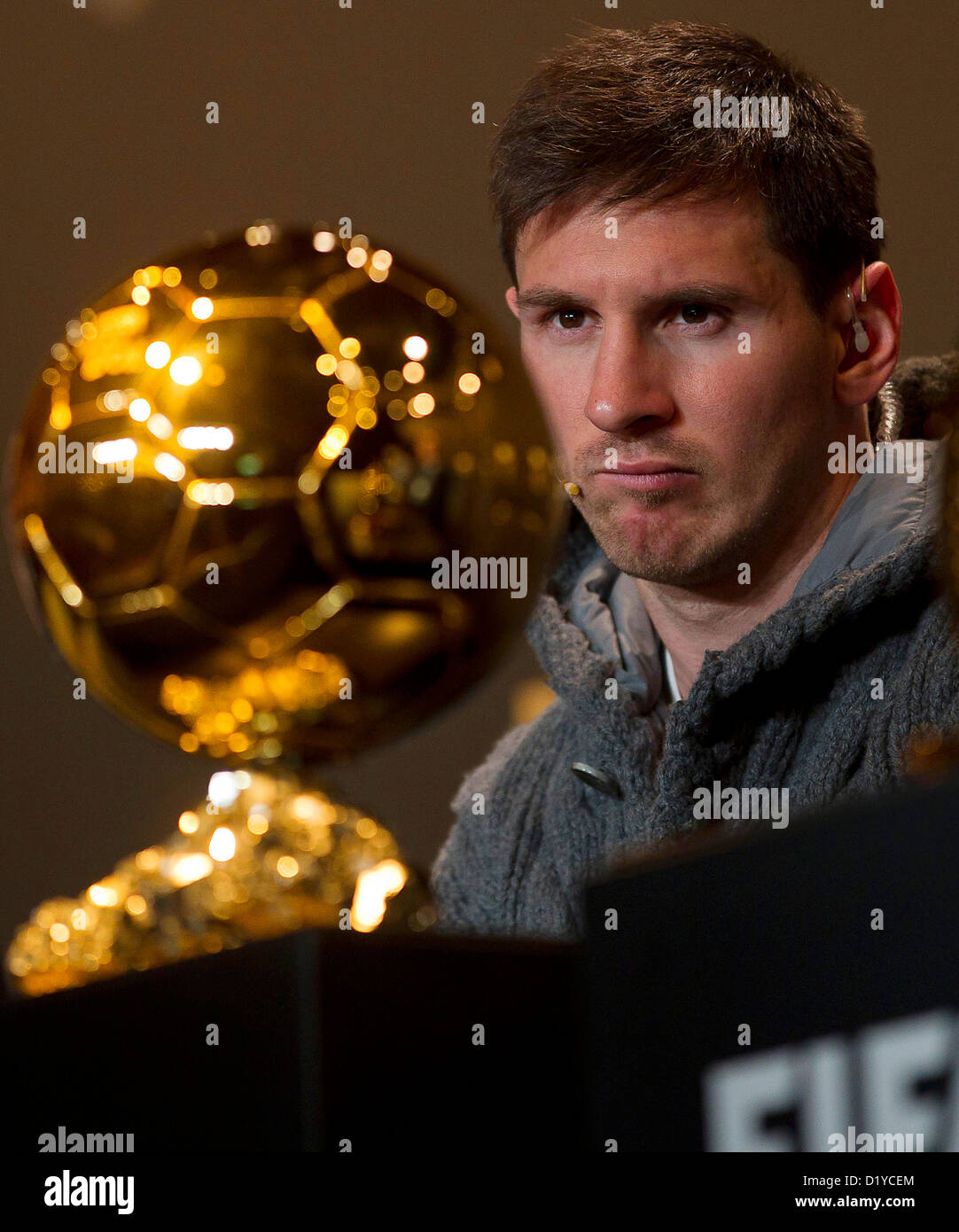 Lionel Messi, during the Press Conference with nominees for World Player of the Year and World Coach of the Year - Stock Image