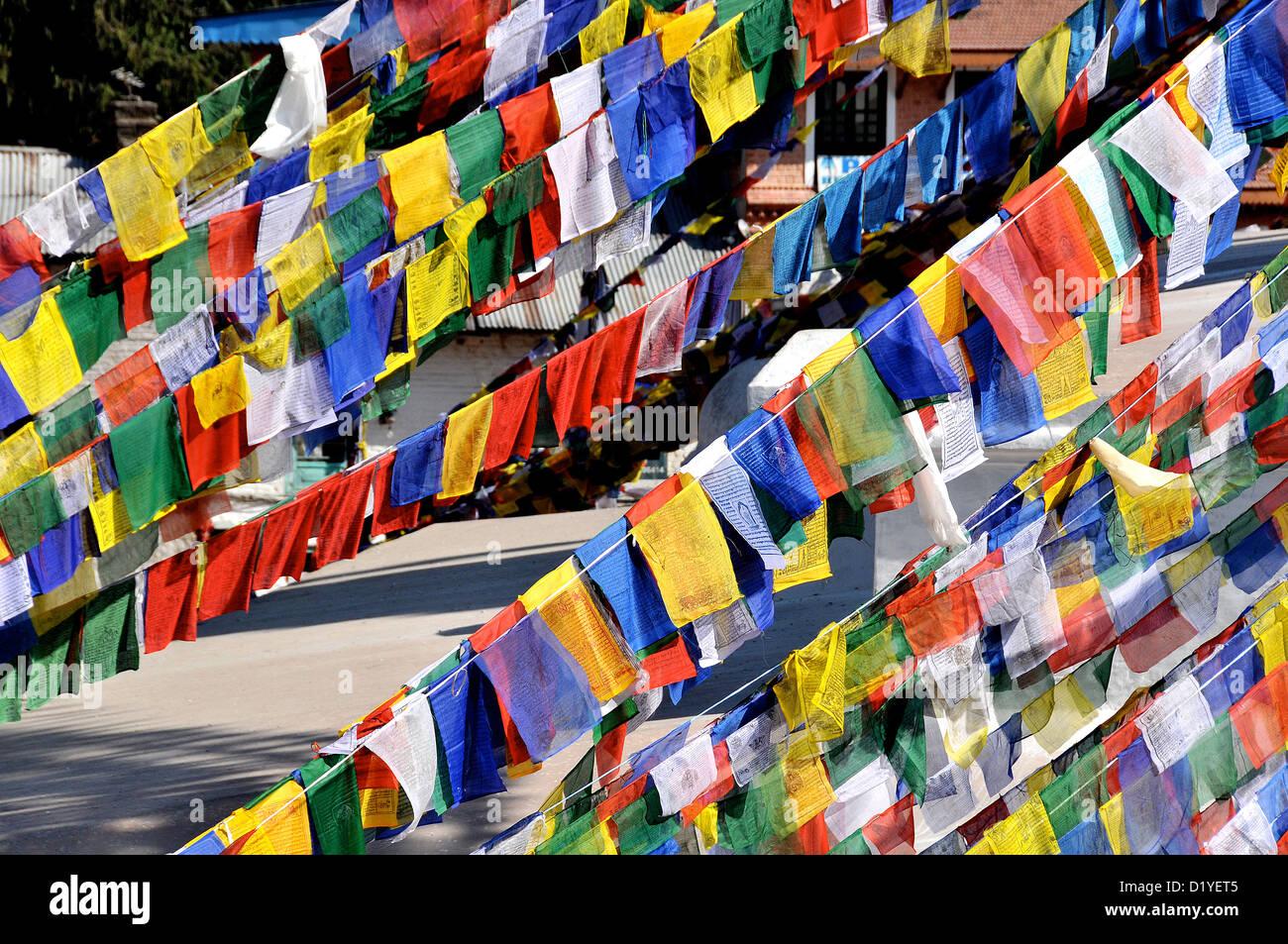 stupa Bodhnath Nepal - Stock Image