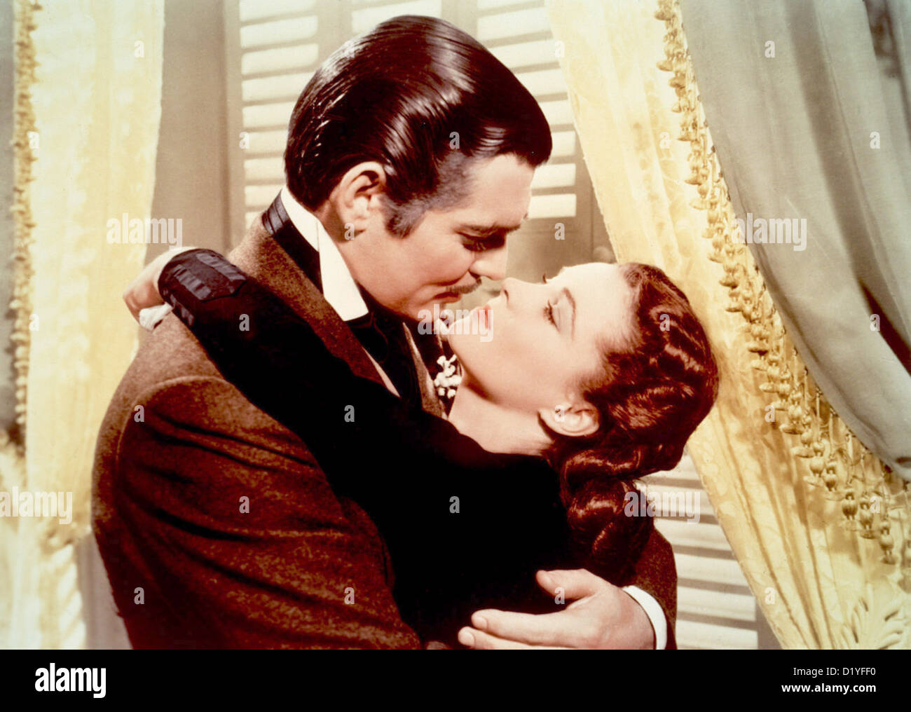 GONE WITH THE WIND  1939 MGM film with Clark Gable and Vivien Leigh - Stock Image