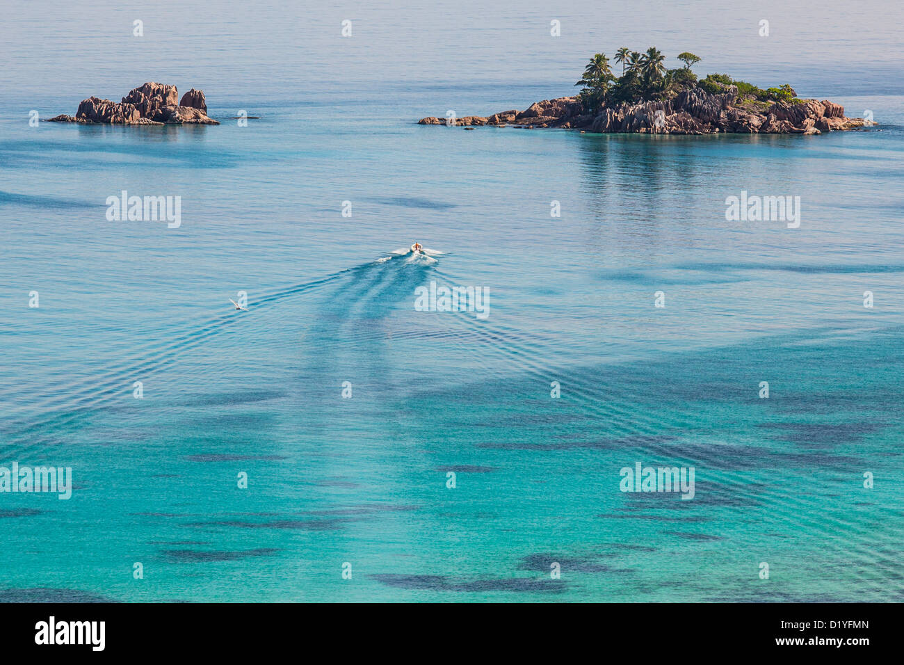 St Pierre Island, Praslin, Seychelles - Stock Image