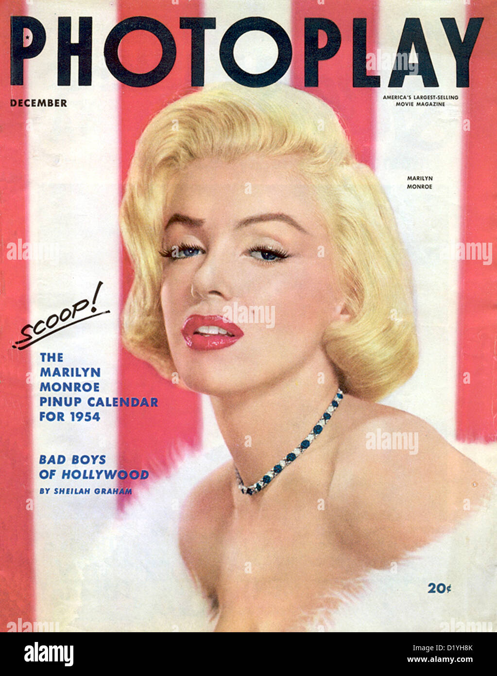 MARILYN MONROE 1926 1962 US Film Actress On The December 1953 Cover Of