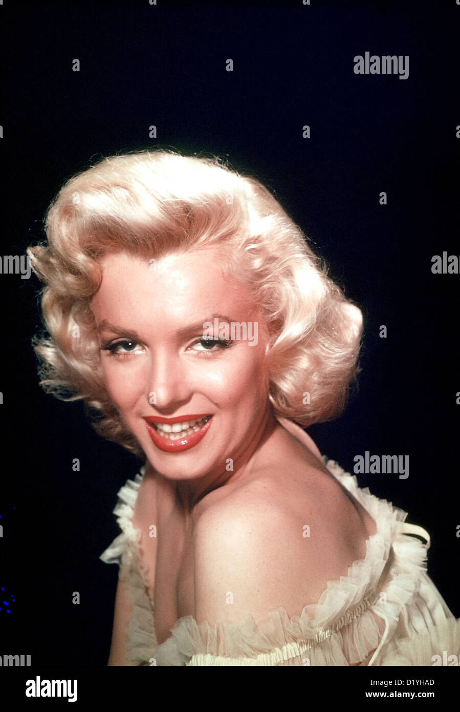 MARILYN MONROE (1926-1962) US film actress about 1956 - Stock Image