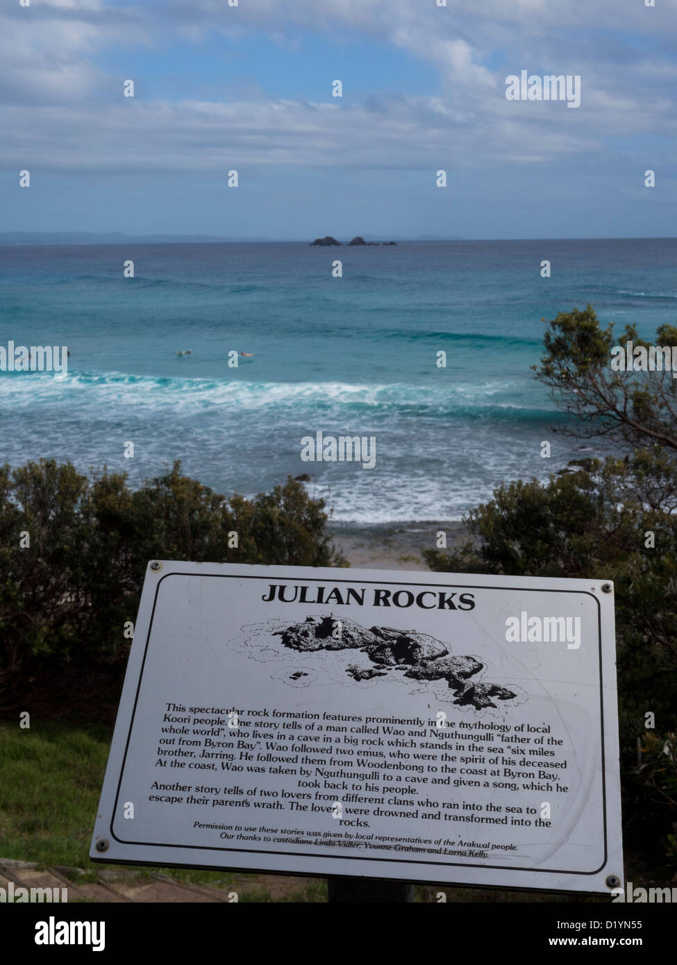 Julian Rocks is a famous dive site at Byron Bay New South Wales Australia - Stock Image