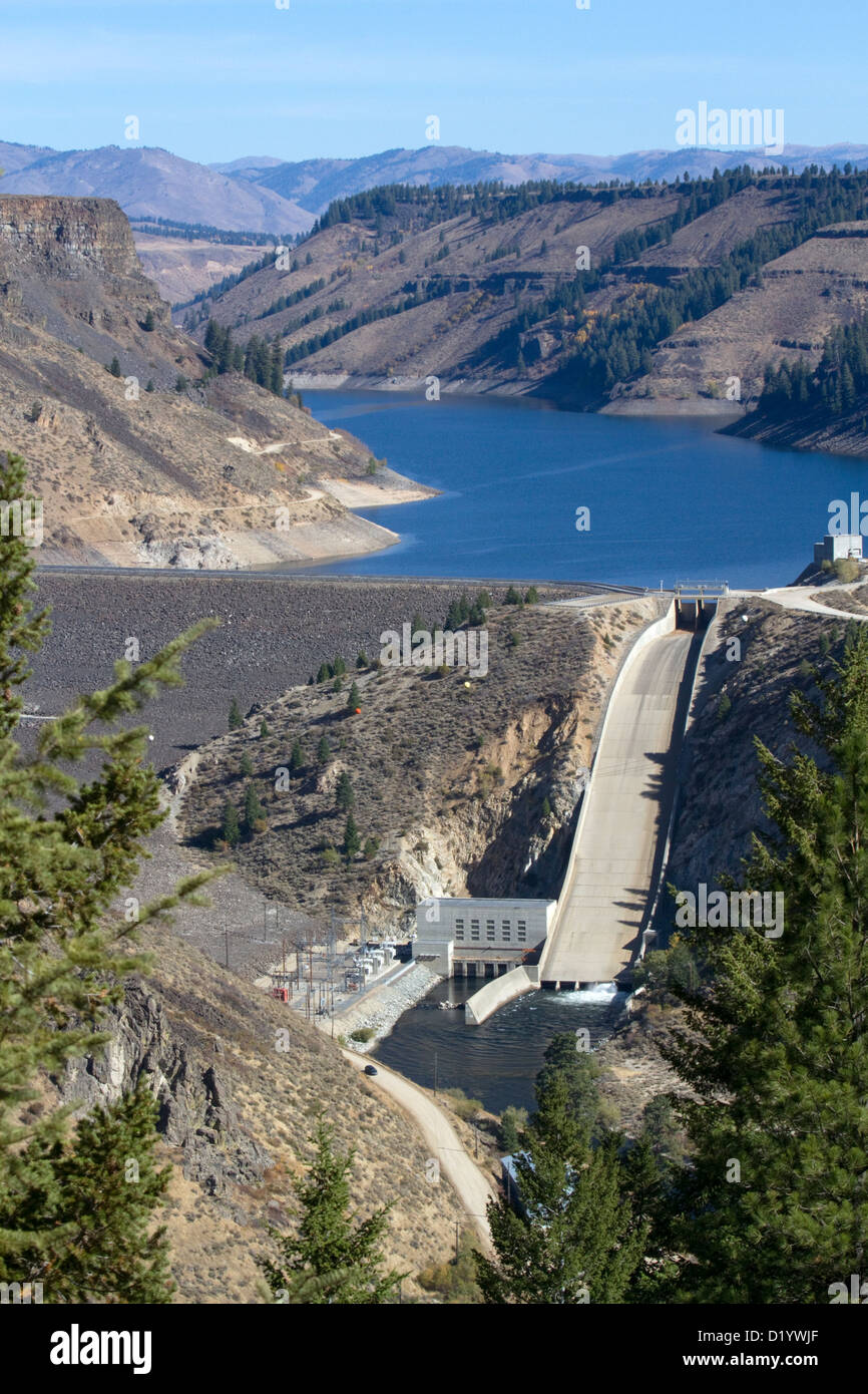 Anderson Ranch Dam located on the South Fork of the Boise River in Elmore County, Idaho, USA. - Stock Image