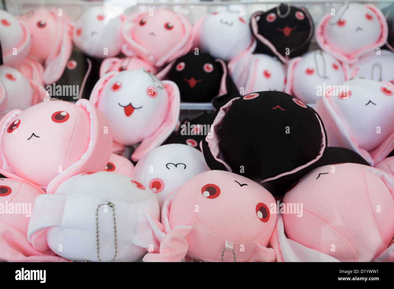 Kawaii soft toys in a Japanese store, Kyoto, Japan - Stock Image
