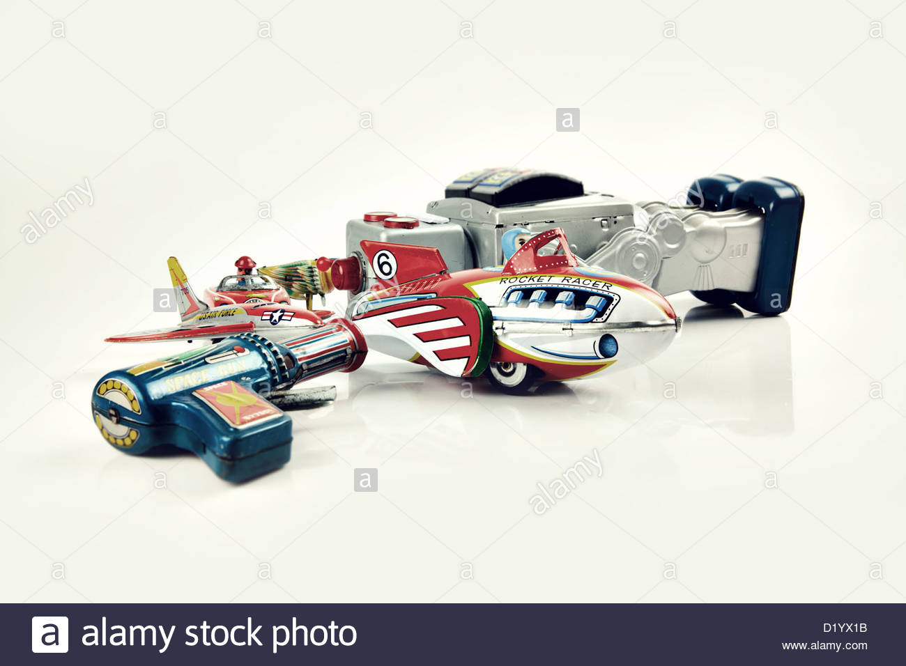 old tin toys - Stock Image