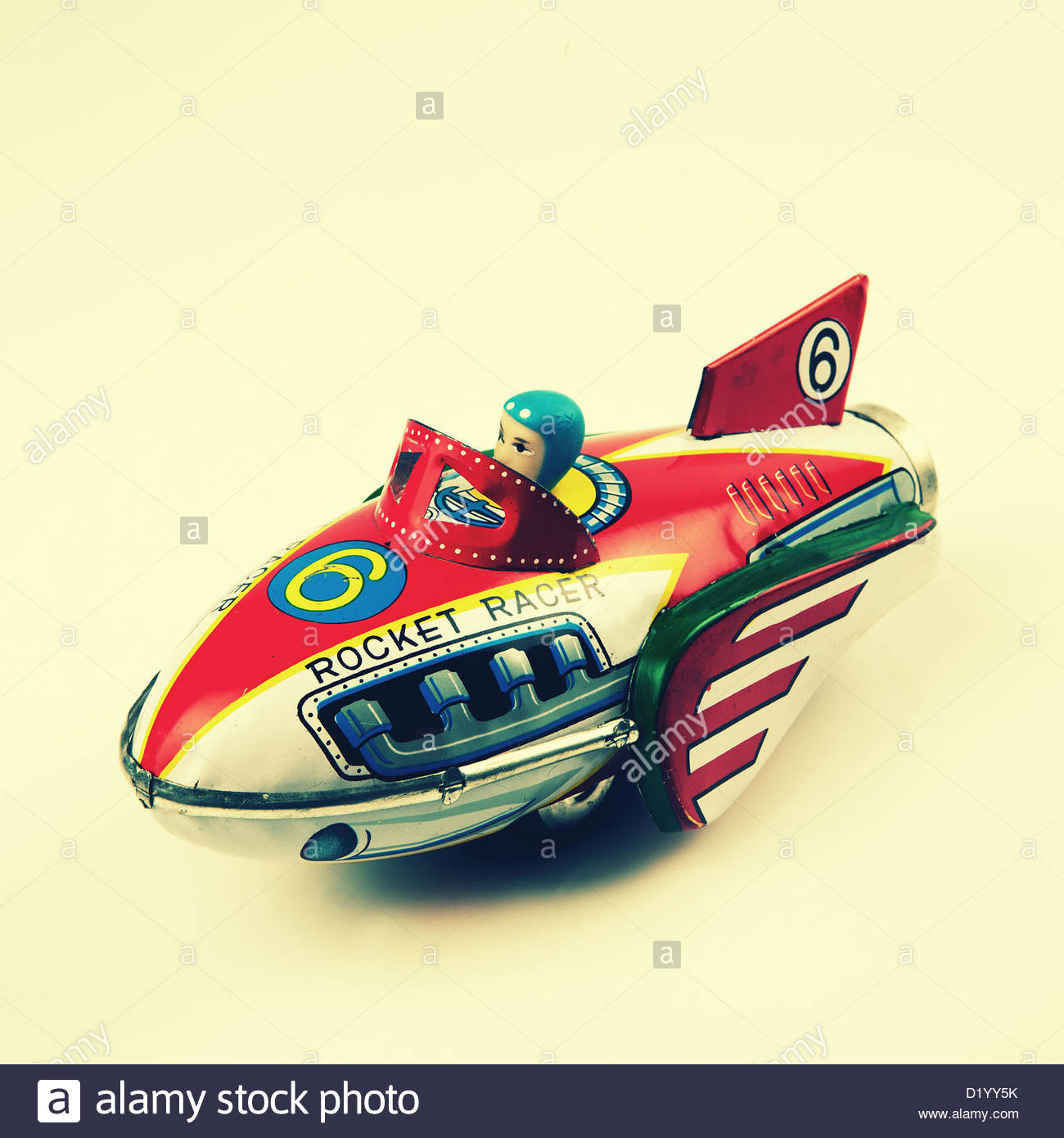rocket racer tin plate toy - Stock Image