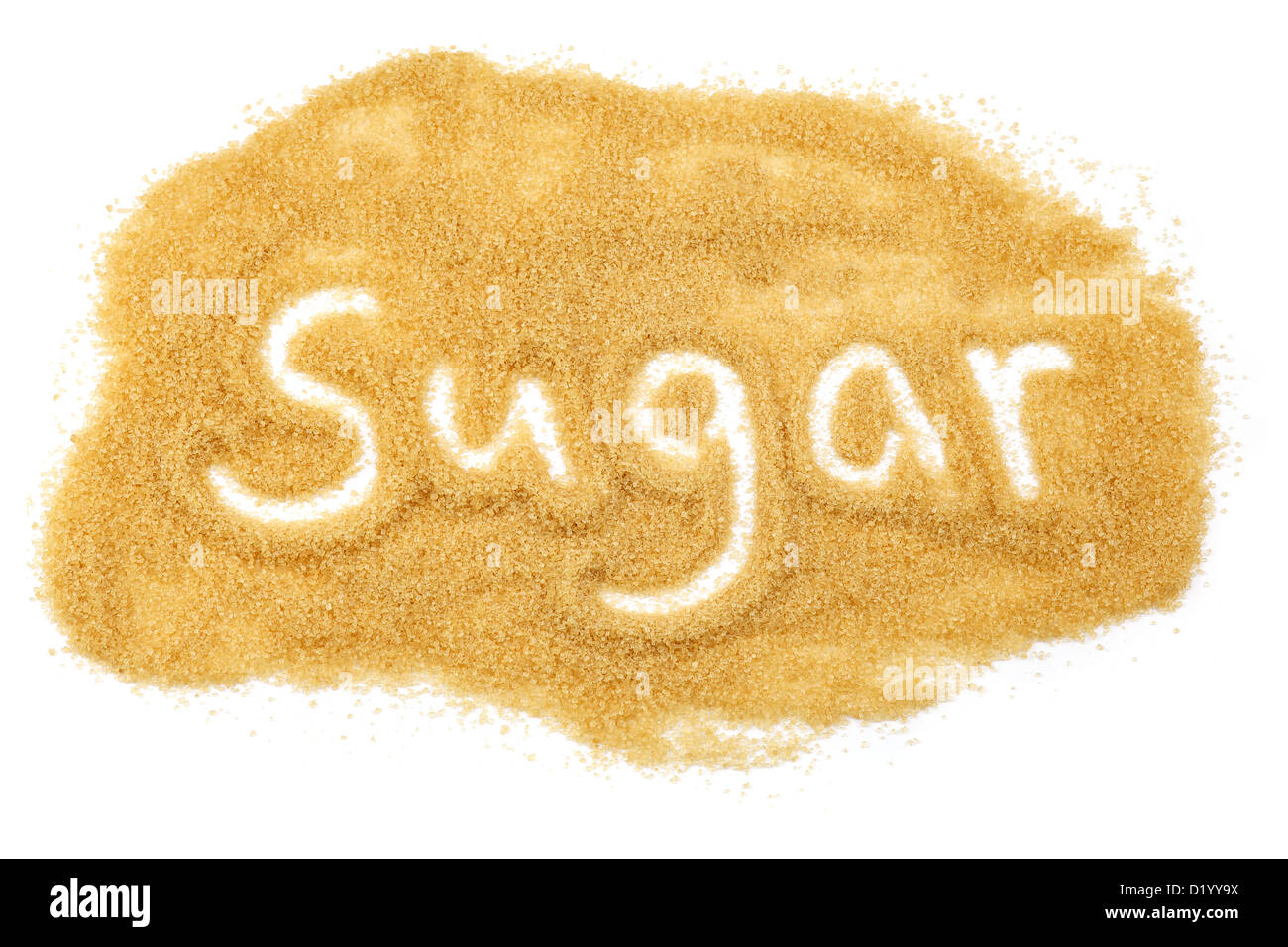 the word sugar in sugar - Stock Image