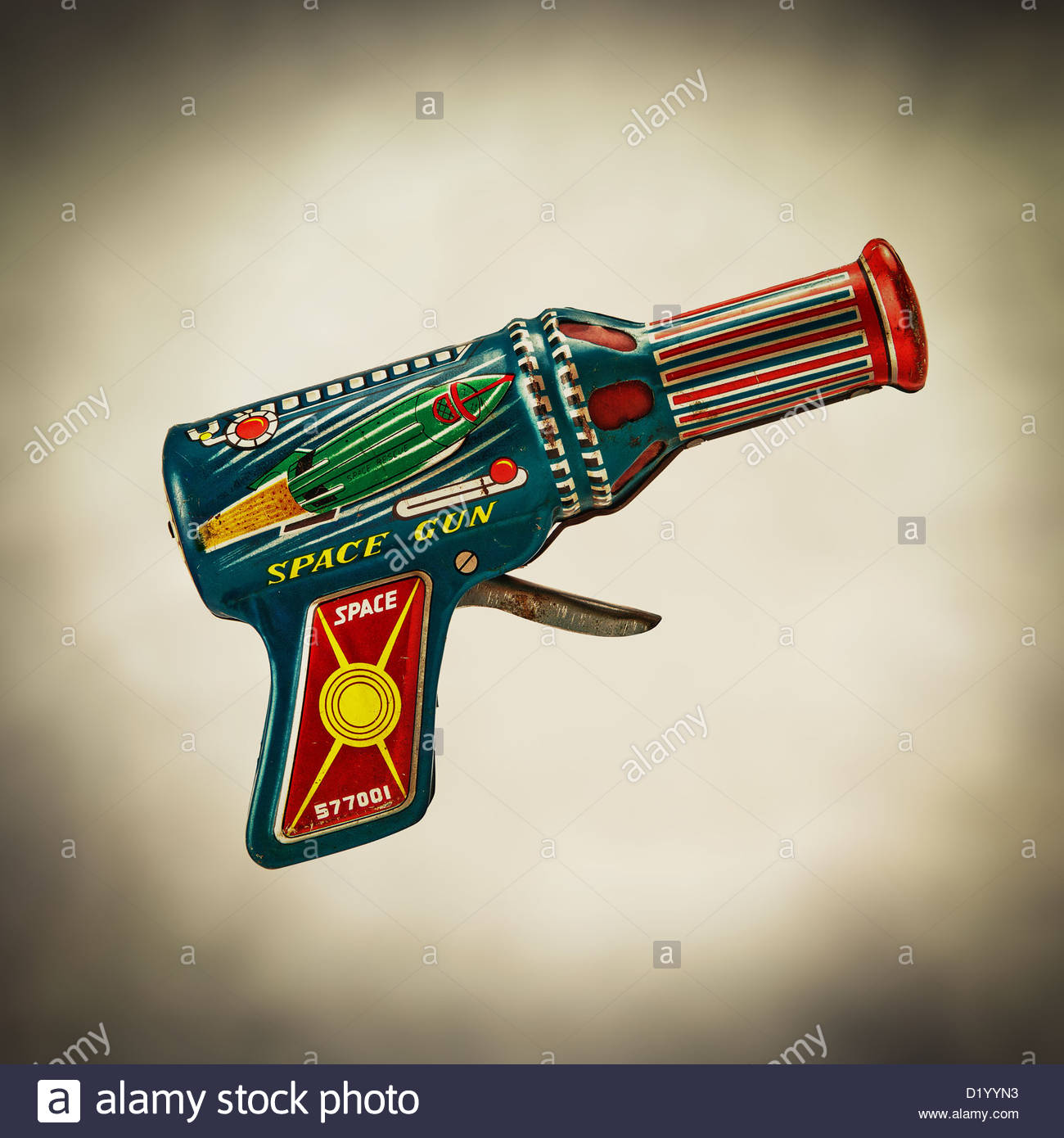 retro space gun - Stock Image
