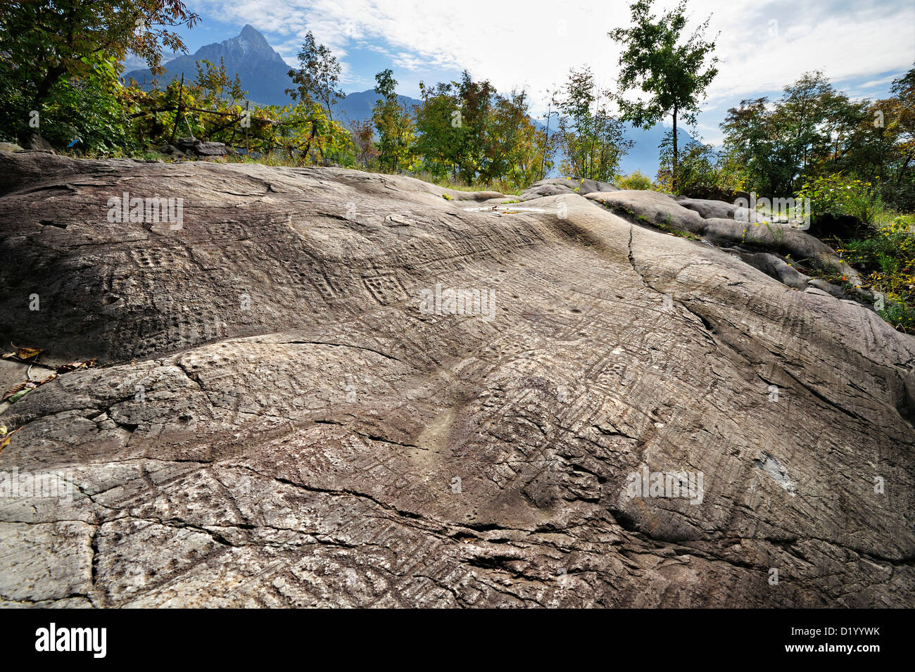 Slab with map etruscan rock drawing bedolina val camonica unesco slab with map etruscan rock drawing bedolina val camonica unesco world heritage site val camonica lombardy italy europe gumiabroncs Images