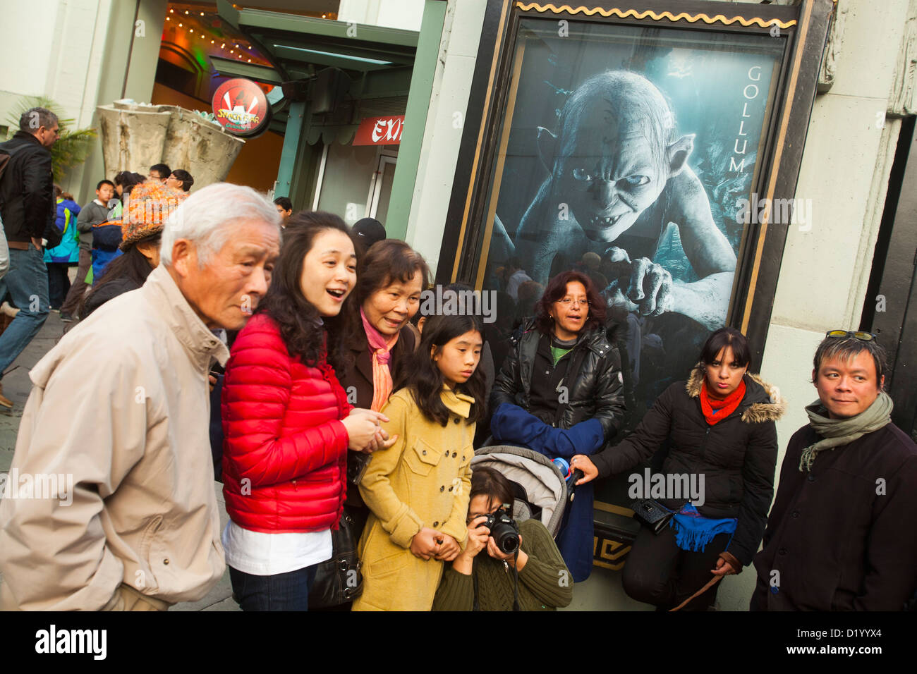 Grauman's Chinese Theater, Hollywood Boulevard, Los Angeles, California, United States of America - Stock Image