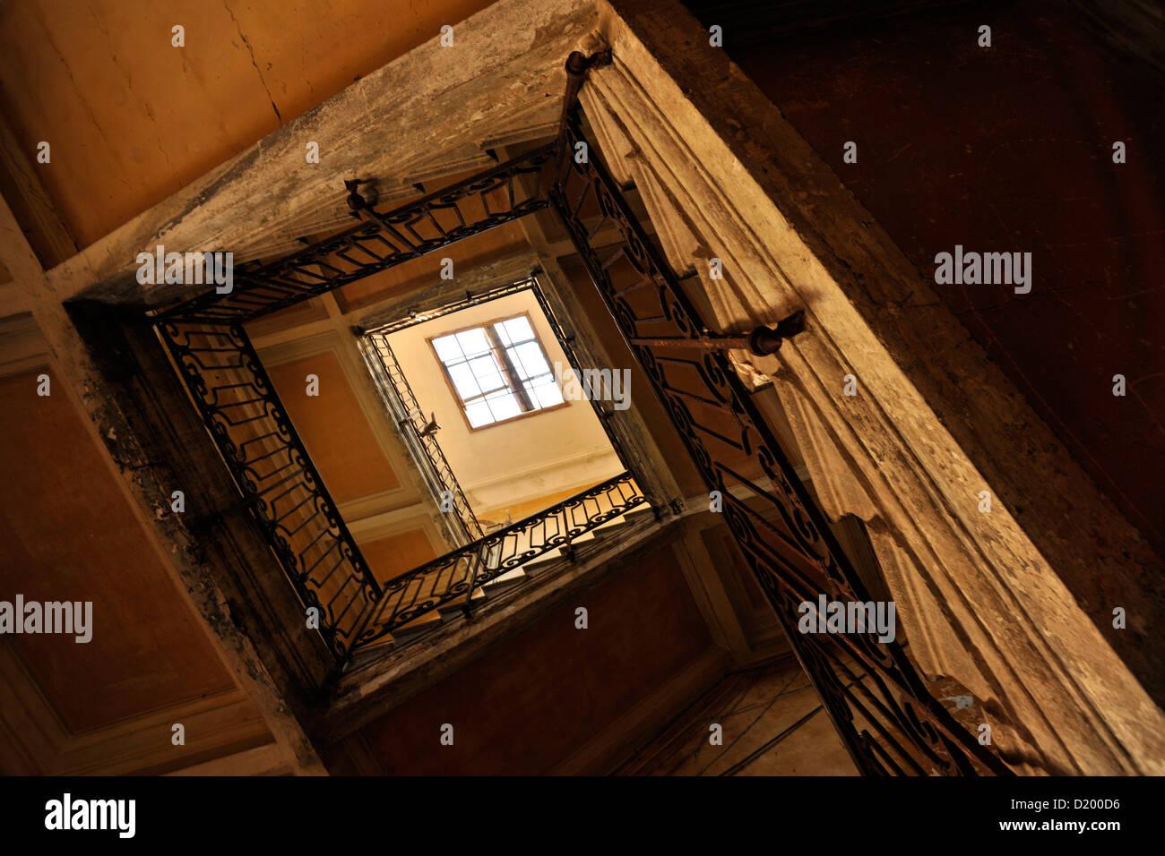 S.Croce, Backyard, Staircase, Venice, Italy - Stock Image