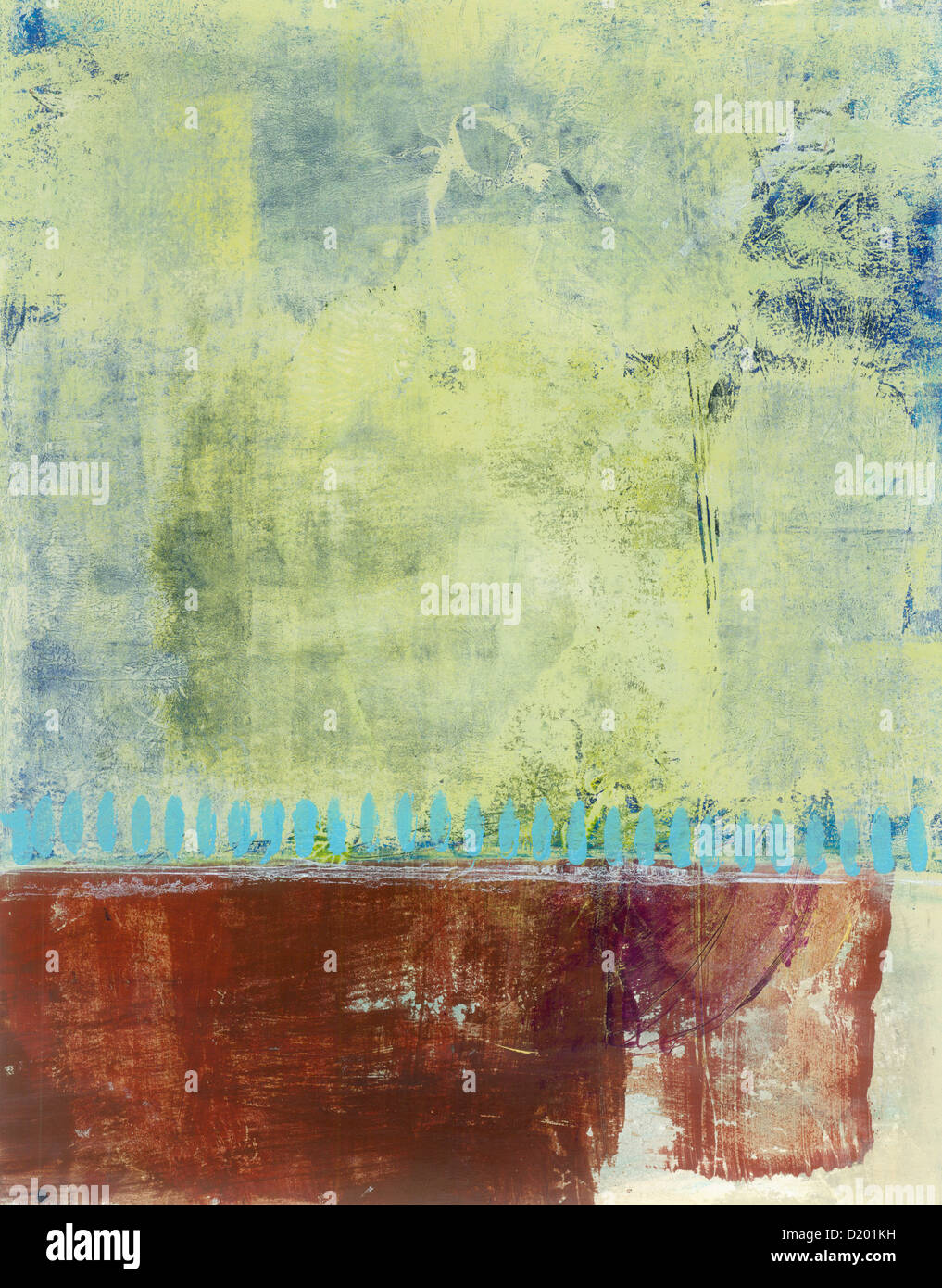 Abstract painting with space for design and copy. - Stock Image