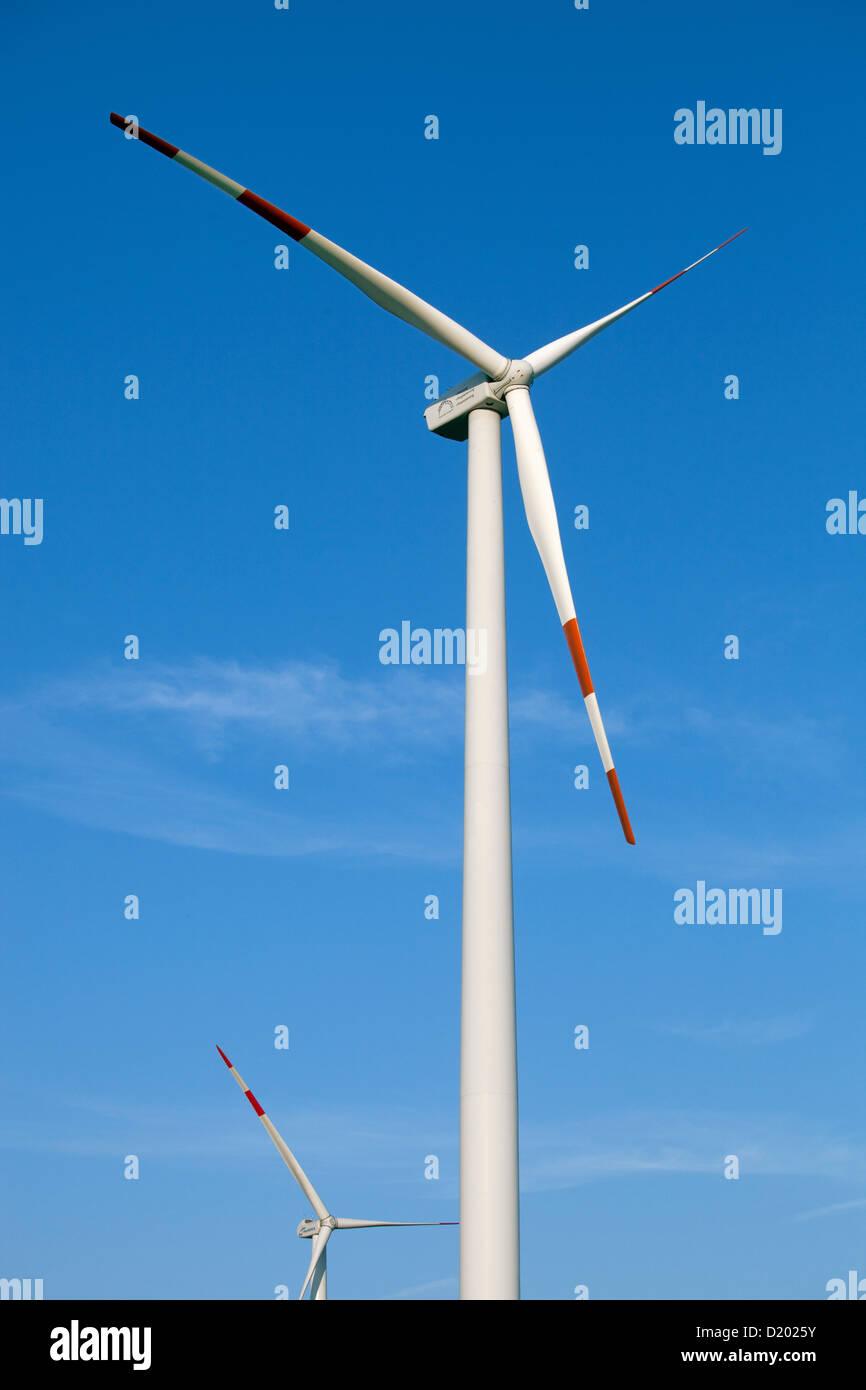 Moenchengladbach, Germany, wind wheels - Stock Image