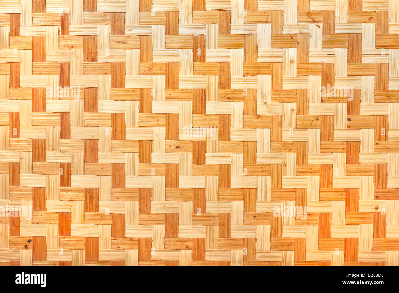 Natural rattan in a woven pattern from a handmade tray. - Stock Image