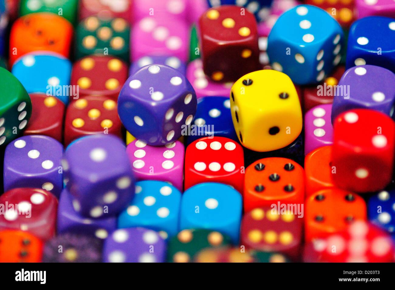 Colorful Dice Stock Photo: 52863443 - Alamy