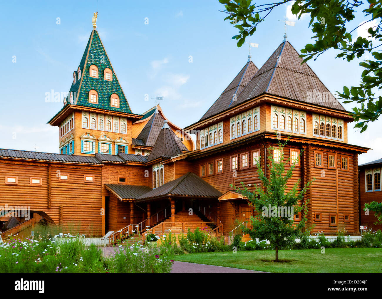 Wooden palace in Russia - Stock Image
