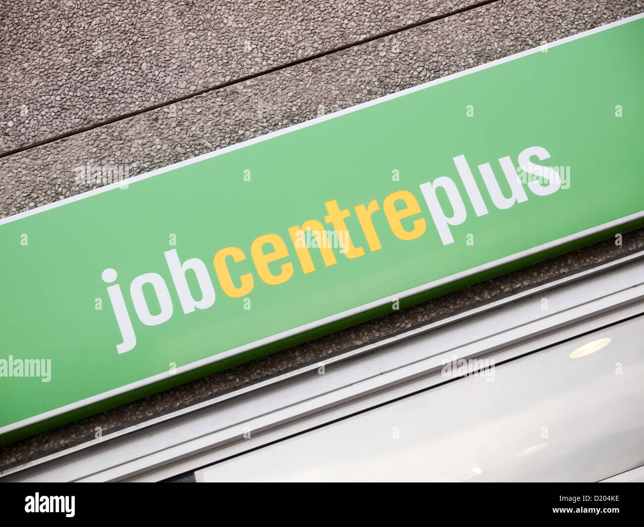 Sign on Job Centre Plus Government Employment Exchange for job seekers Northallerton North Yorkshire UK Stock Photo