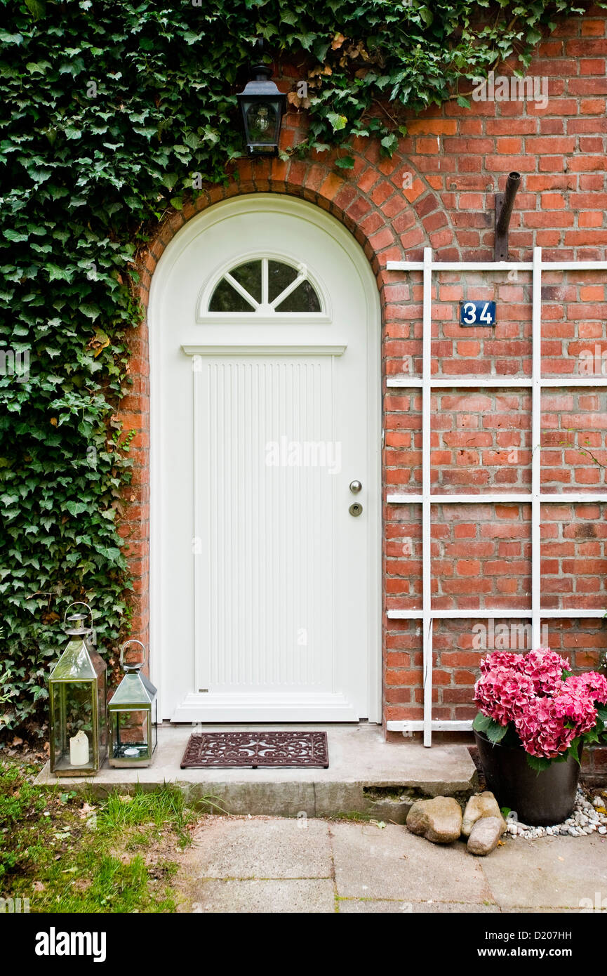 Front Door Of A House Furnished In Country Style Hamburg Germany