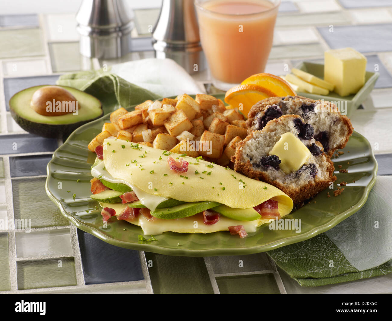 California Omelet - Stock Image