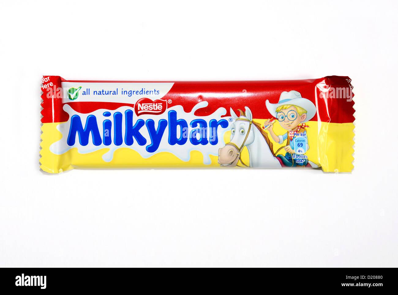 A Nestle Milky Bar - Stock Image
