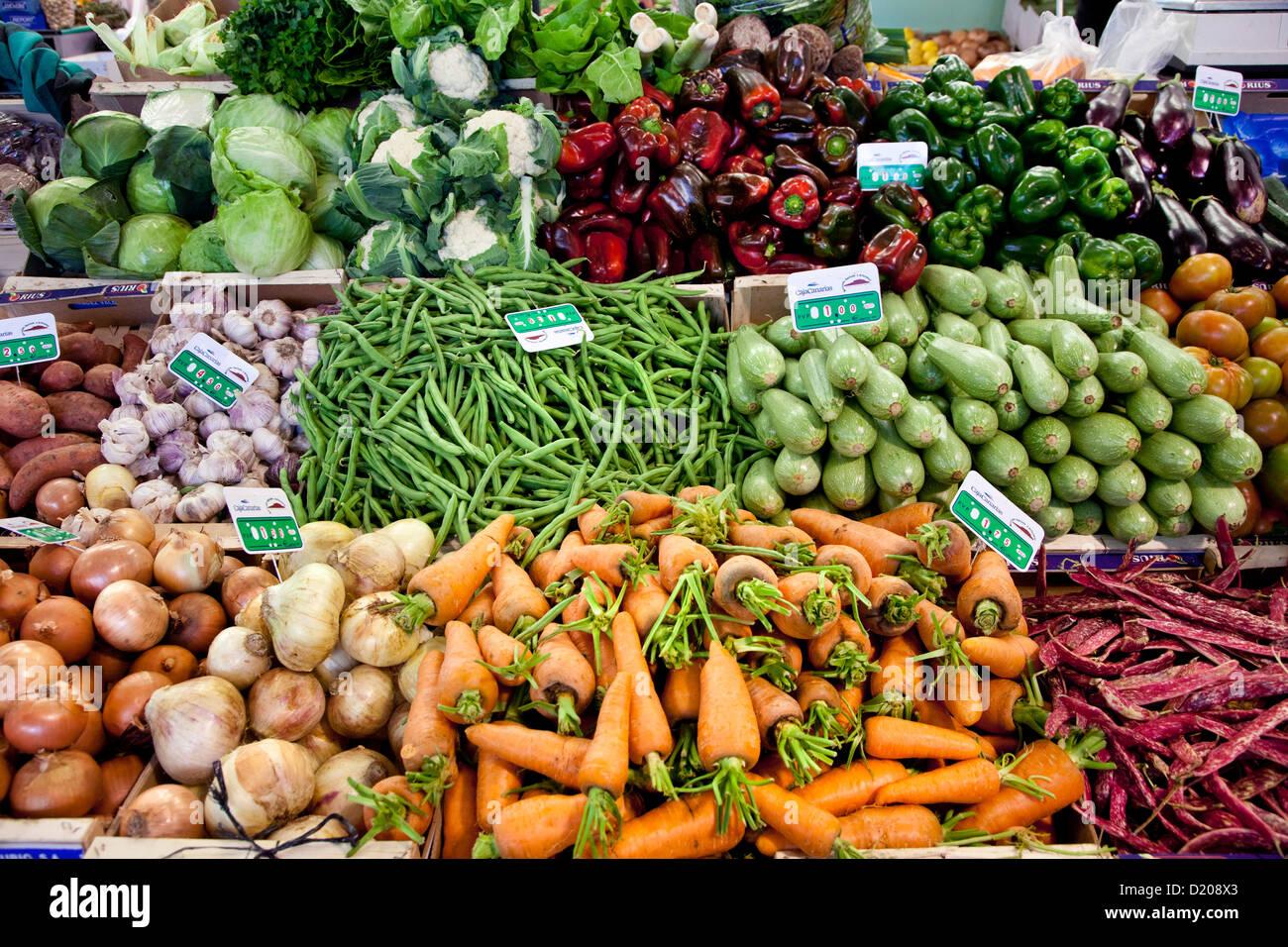 Farmers market, Mercado Agricola, Vega de San Mateo, Gran Canaria, Canary Islands, Spain - Stock Image