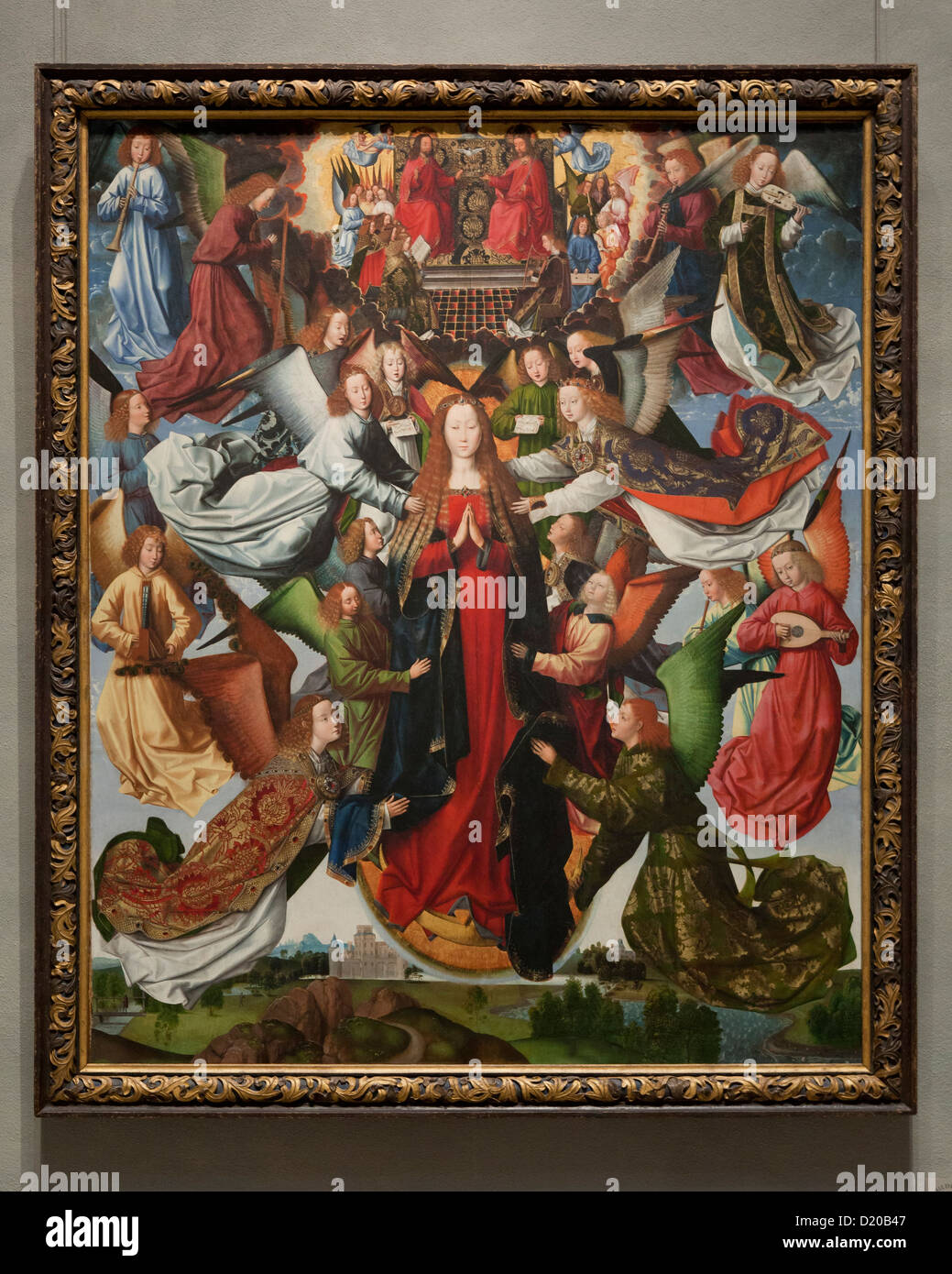 Mary, Queen of Heaven - Master of the Saint Lucy Legend, 1485 - Smithsonian, National Gallery of Art - Washington, - Stock Image