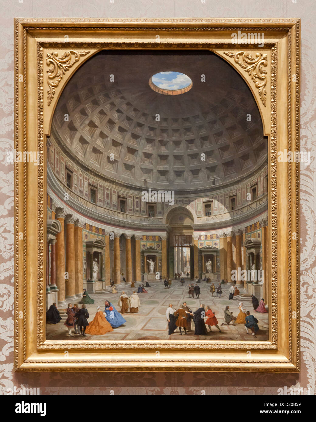 """Interior of the Pantheon, Rome"" by Giovanni Paolo Panini, 1735"