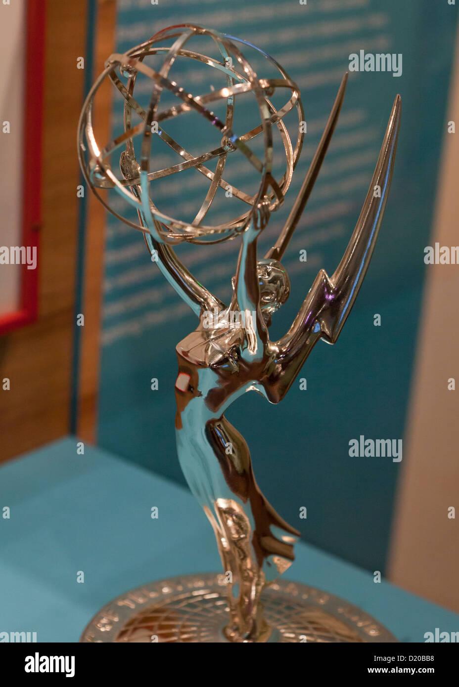 Emmy Award trophy - Stock Image